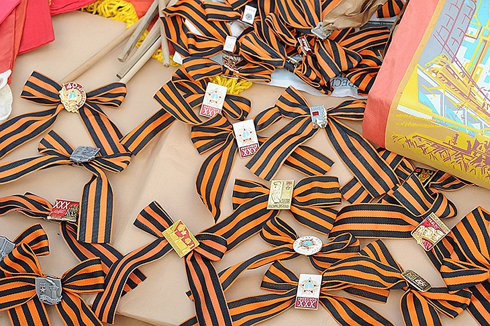ВКоми волонтеры Победы раздадут 25 тыс. Георгиевских лент