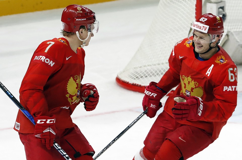 Русские хоккеисты сыграют скомандой Беларуси вматче чемпионата мира