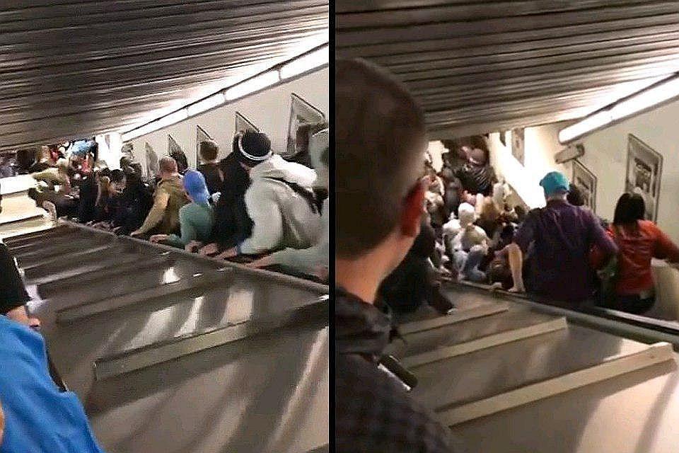Corriere della Sera: фанаты ЦСКА непрыгали навзбесившемся эскалаторе римского метро