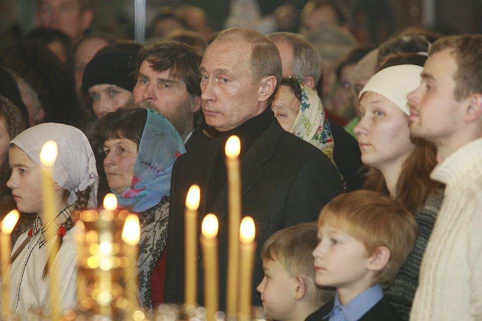 Путин приехал наРождество вПетербург