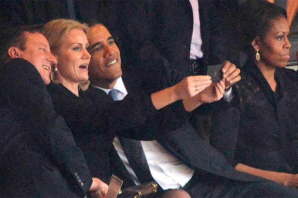 """На похоронах Манделы Обама и Кэмерон позировали для """"селфи"""""""