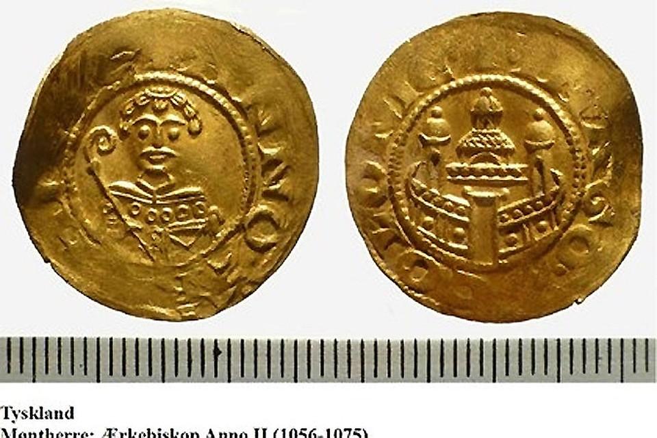 Арабские золотые монеты найдены на датском острове apxeo.