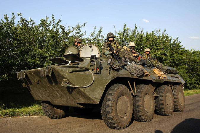 На востоке Украины идет война