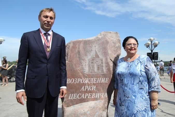 Памятный знак «Арки Цесаревича» открыли в Иркутске