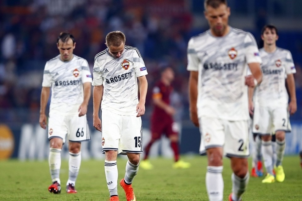 Четыре гола в свои ворота футболисты ЦСКА заполучили уже в первые 30 минут игры.