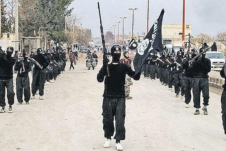 Боевики «Исламского государства» празднуют победу в сражениях с умеренными исламистами, союзниками США по борьбе с президентом Сирии Башаром Асадом.