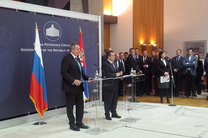 В ходе конференции по результатам встречи вице-премьера РФ Дмитрия Рогозина со своим сербским коллегой Ивицей Дачичем политики выразили обеспокоенность активизацией НАТО на Балканах
