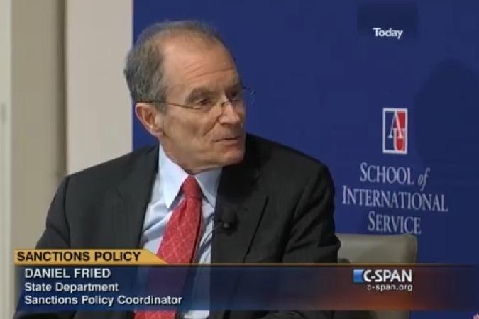 Координатор Госдепартамента США по санкциям Дэниел Фрид. Фото: скриншот с видео
