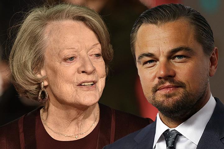 81-летняя актриса хоть и не стала лучшей актрисой кинопремии BAFTA, зато получила поцелуй от самого Лео ДиКаприо