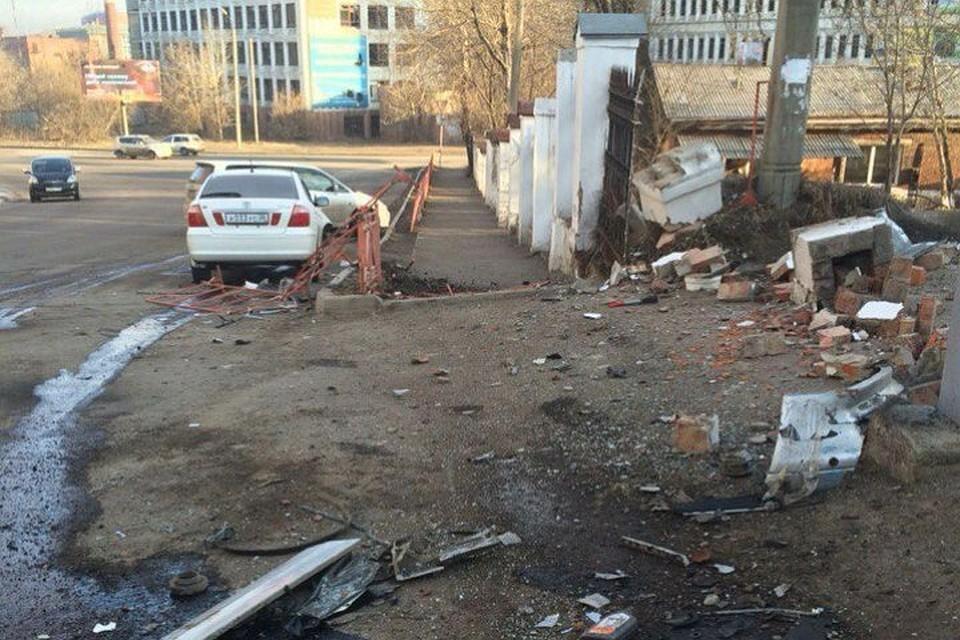 ВИркутске шофёр «Mercedes», уходя отпогони, стал виновником ДТП