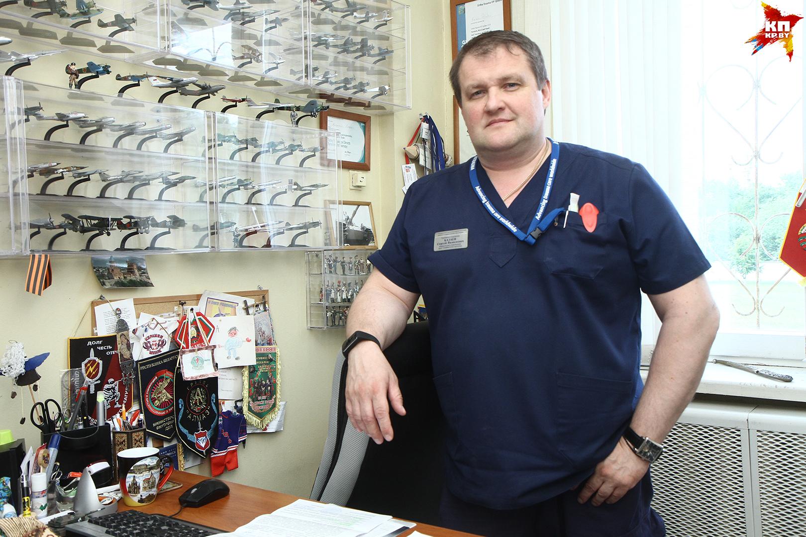 Заведующий приемным отделением РНПЦ травматологии и ортопедии Сергей Казаев.