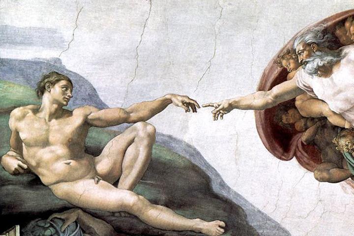 Русские космонавты воспроизвели легендарную фреску Микеланджело