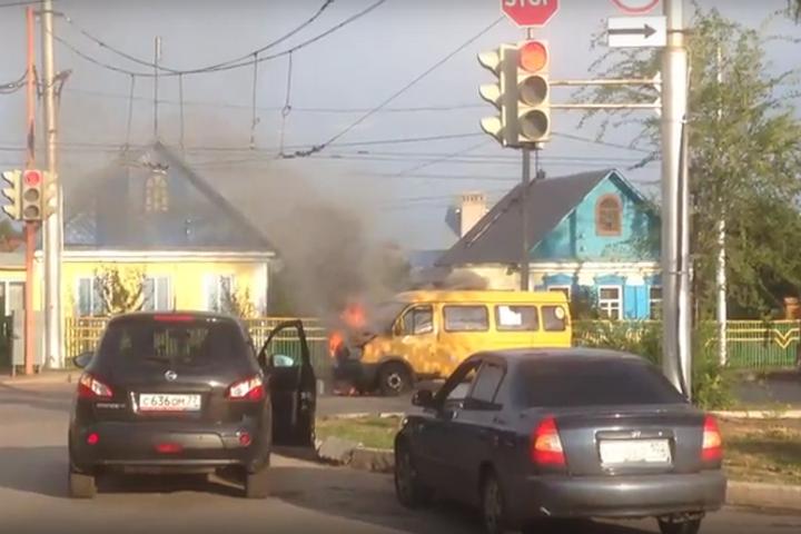 ВБашкирии загорелась маршрутка
