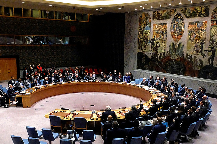 Зал заседаний Совета безопасности ООН.