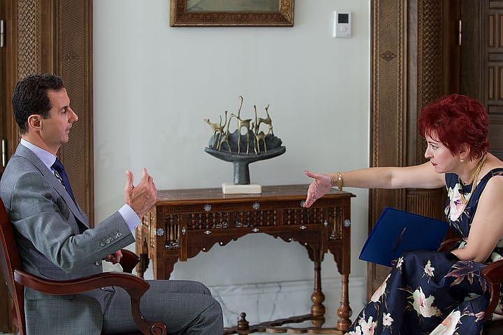 "President of the Syrian Arab Republic Bashar al-Assad gave an interview to reporter of ""Komsomolskaya Pravda"" Daria Aslamova."