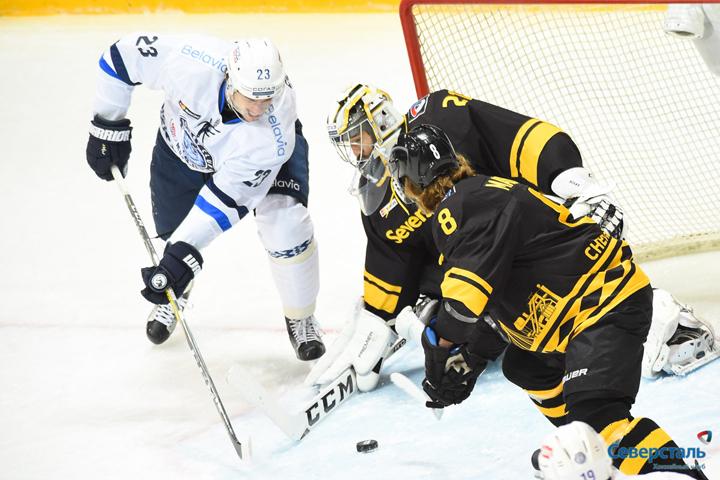 """В игре было много подъемов и падений. Фото: хоккейный клуб """"Северсталь"""""""