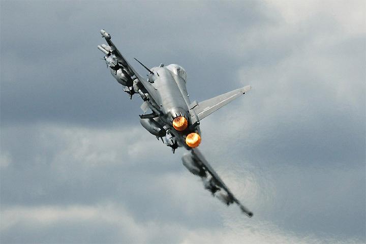 Истребители ВВС Германии Eurofighter будут совершать тренировочные полеты на низкой высоте в воздушном пространстве Эстонии. Фото: с сайта wikipedia.org