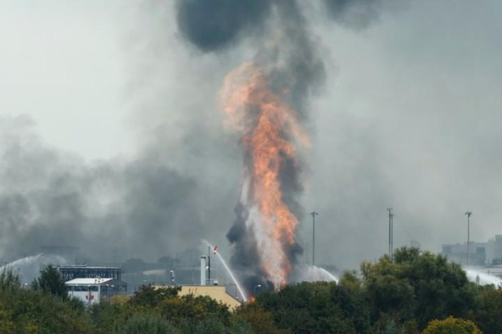Взрыв на химическом заводе концерна BASF в Лампертхайме прогремел в понедельник