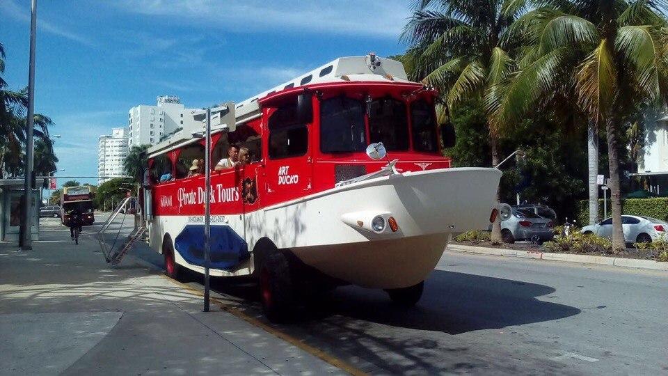 Там выглядят автобусы-амфибия в Майами (Фото: Данила Семенов)