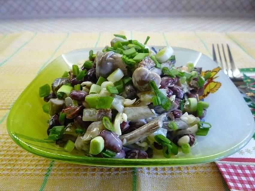Салат с фасолью рецепт пошагово с фото