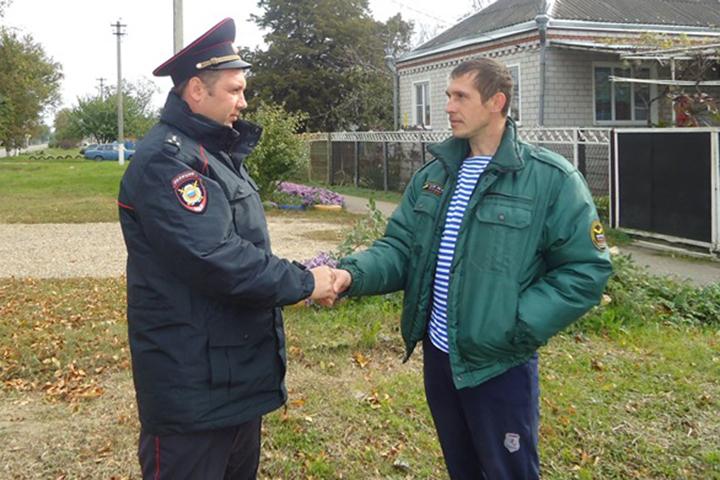 ВГулькевичском районе полицейский отговорил мужчину отсамоубийства