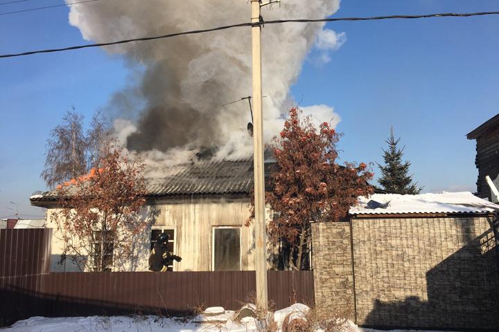 Дом горел наулице Давыдова вИркутске