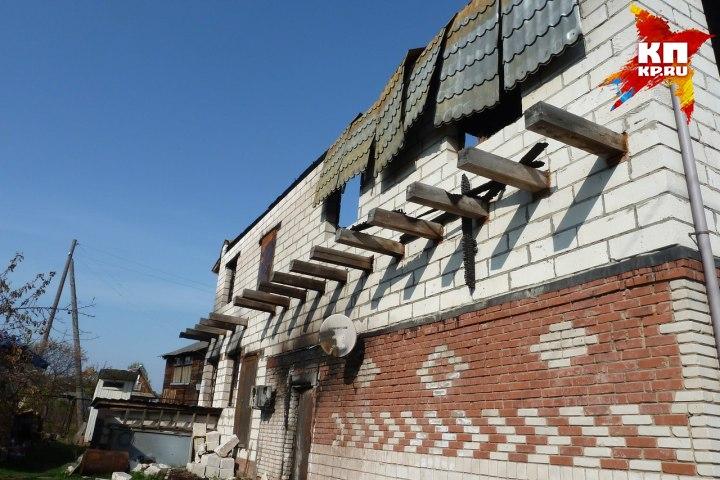 Пожар лишил пенсионеров единственного дома, который они строили три года. Фото: Андрей Сполохов, vk.com