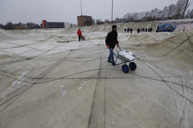 Купол легкоатлетического манежа вЯрославле отреставрируют за3,7 млн руб.