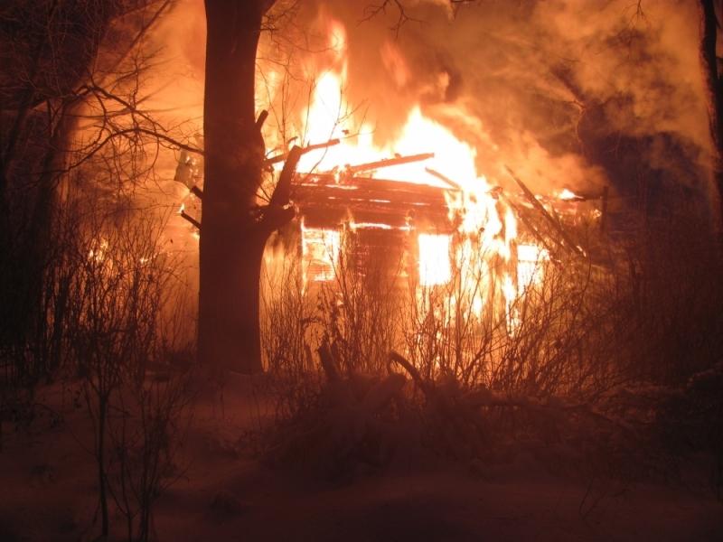 ВНекоузском районе впроцессе пожара в своем доме умер пенсионер