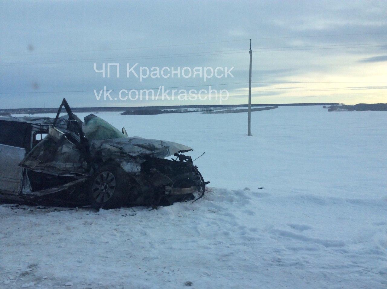 ВДТП натрассе Назарово-Шарыпово умер пассажир иномарки