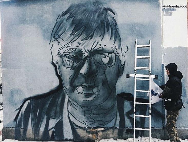 Вместо граффити Альберта Эйнштейна наЛитейном проспекте появится портрет Юрия Шевчука