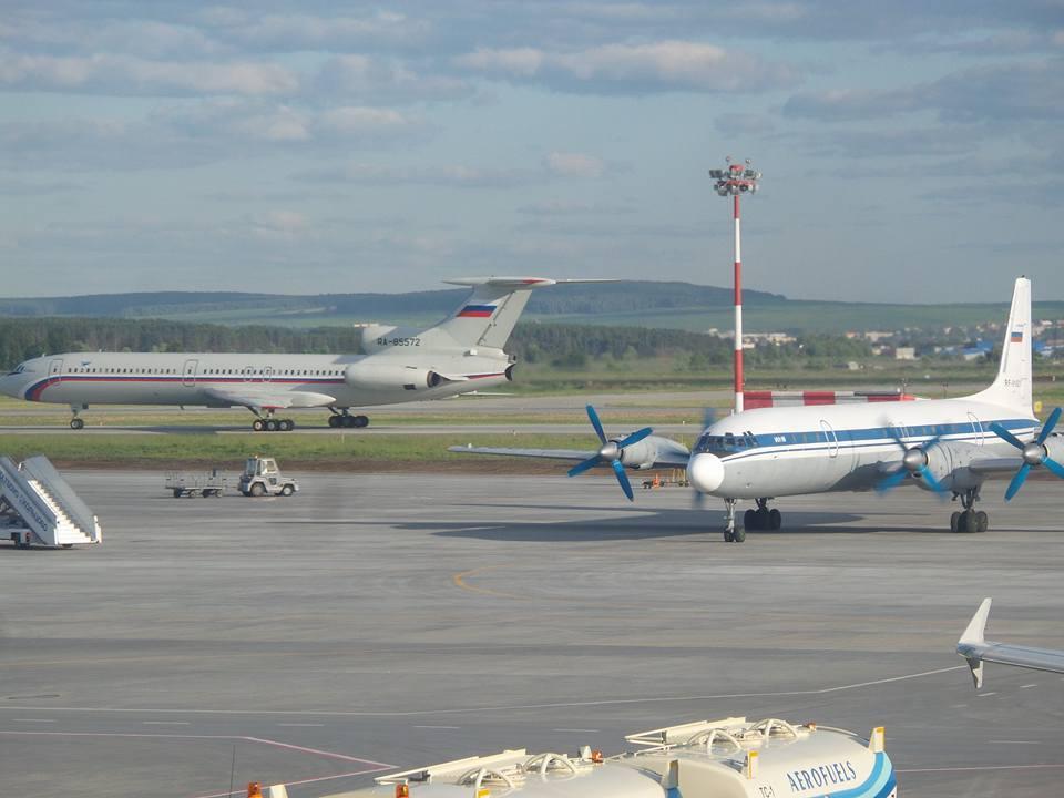 Потерпевшие крушения Ил-18 и Ту-154 в аэропорту Екатеринбурга Фото: Всеволод Махов