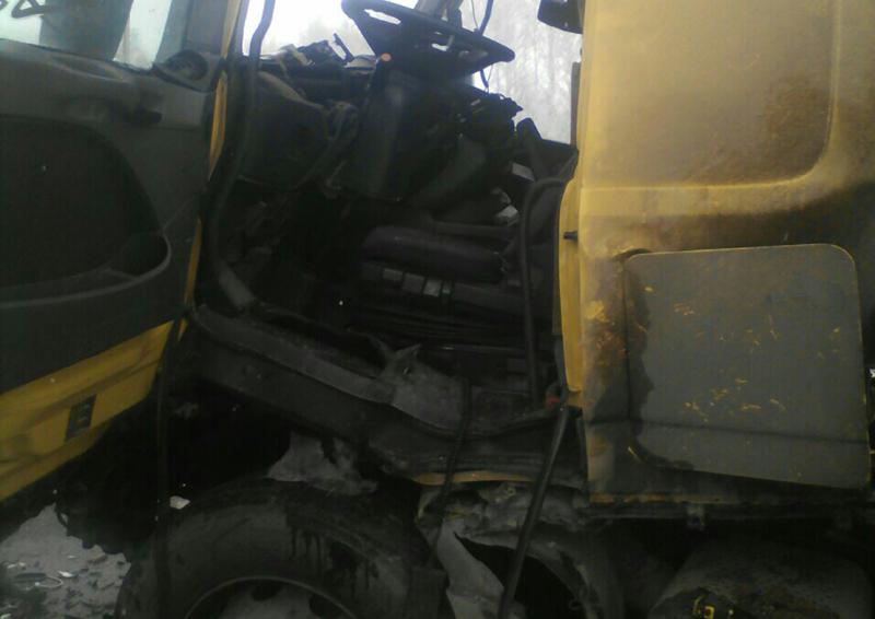 Под Сызранью натрассе М-5 столкнулись два грузового автомобиля