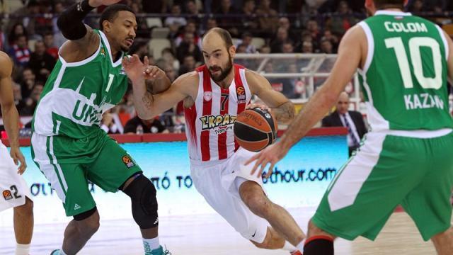 УНИКС уступил «Олимпиакосу» вматче баскетбольной Евролиги