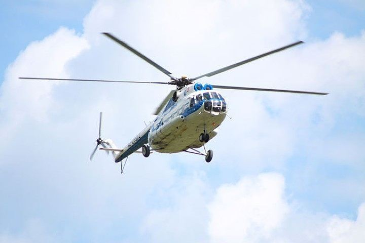 Опадении вертолета вПодмосковье проинформировали очевидцы