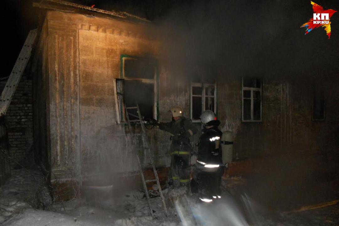 Впожаре вбрянском городе пострадал человек