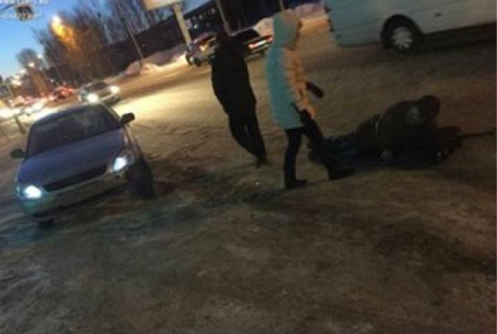 ВТюмени утром «Лада» сбила пешехода назебре