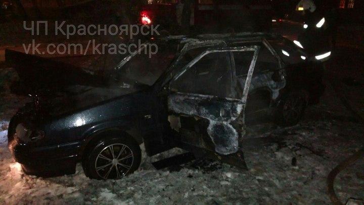 Красноярец едва несгорел живьем в своем автомобиле