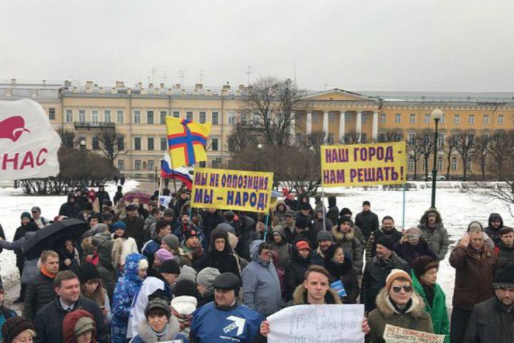 И.о. губернатора Петербурга подписал закон, приравнивающий встречи сдепутатами кмитингам