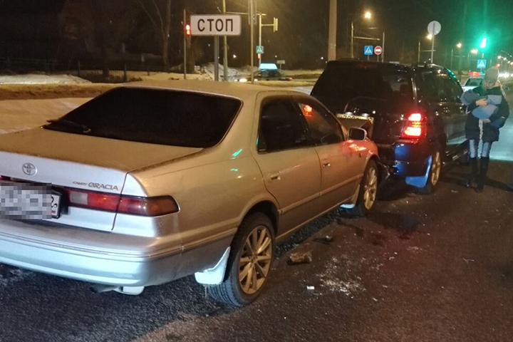ВБарнауле нетрезвый шофёр протаранил машину сгрудным ребёнком