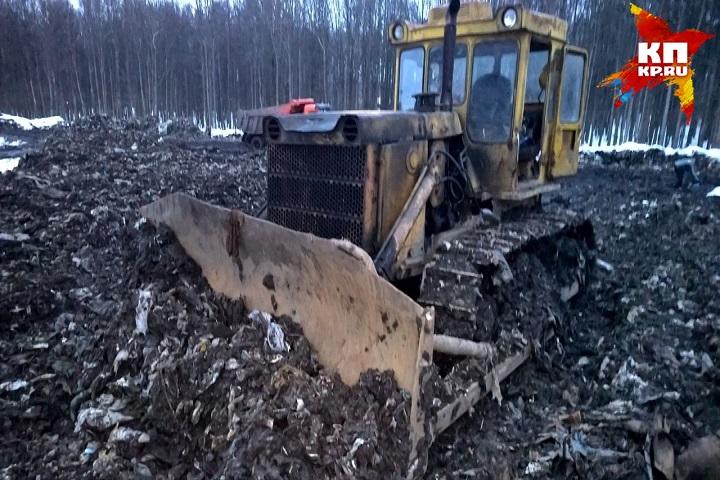 СКР: вКазани наСамосыровской свалке водителя раздавил бульдозер