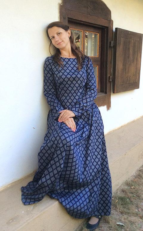 Матушка Елена из Ленинградской области. Женам священников тоже хочется быть красивыми! И это у них получается. ФОТО: Предоставлено магазином