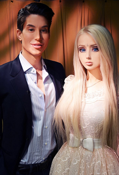 Барби и Кен встретились... и не понравились друг другу. Валерия Лукьянова разочаровала Джастина. Фото: SPLASH NEWS