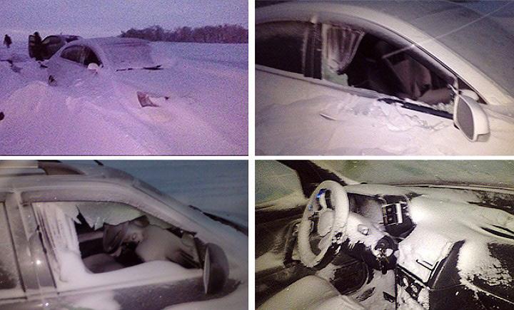 Вечером 2 января на трассе Оренбург – Орск десятки автомобилей оказались в снежном плену.