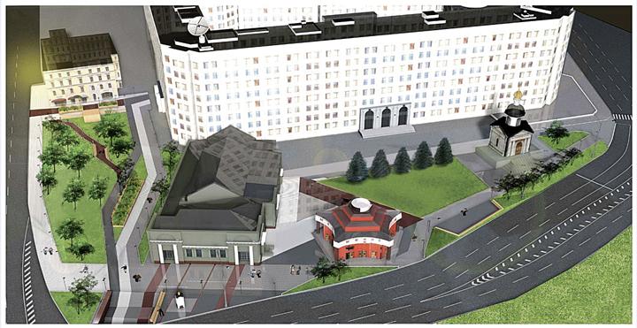 А это макет Арбатской площади, какой она станет после реконструкции. Фото: Департамент капитального строительства
