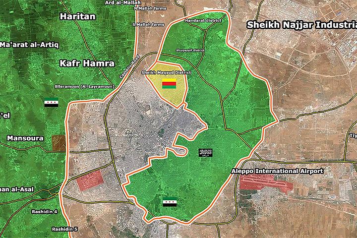 Сирийской армии удалось окружить оппозиционеров в Алеппо.