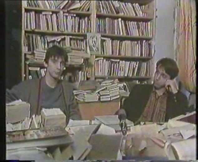 Курехин и Шолохов обсуждают, гриб ли Ленин.