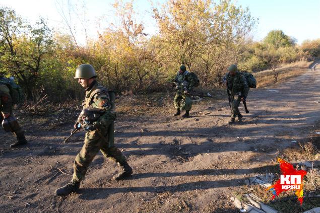 Ополченцы 1 славянской роты в Никишино. Фото: Александр КОЦ, Дмитрий СТЕШИН