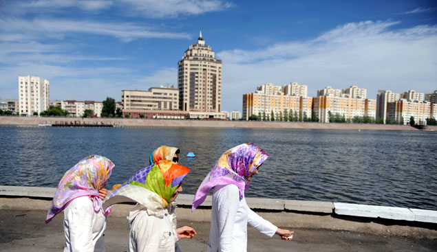 Россия - друг и союзник Казахстана, но украинский майдан произвел необыкновенное впечатление на юные неокрепшие умы Фото: GLOBAL LOOK PRESS