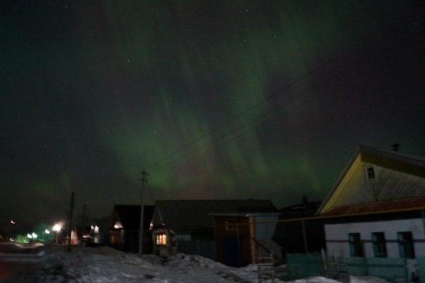 Северное сияние сразило своей красотой и Татарстан. Фото: Нияз Гатауллин